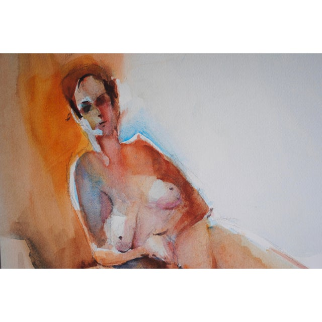 Vintage Figurative Watercolor - Image 2 of 2