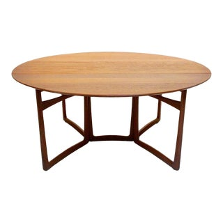 Mid-Century Modern Drop-Leaf Table by Peter Hvidt & Orla Mølgaard-Nielsen for John Stuart, Inc. For Sale