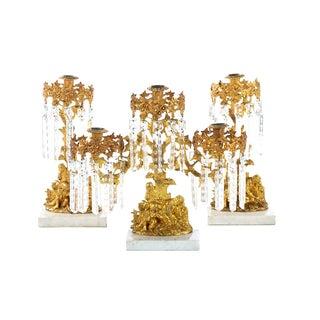 Gilt Bronze Figural Candle Holders - Set of 3