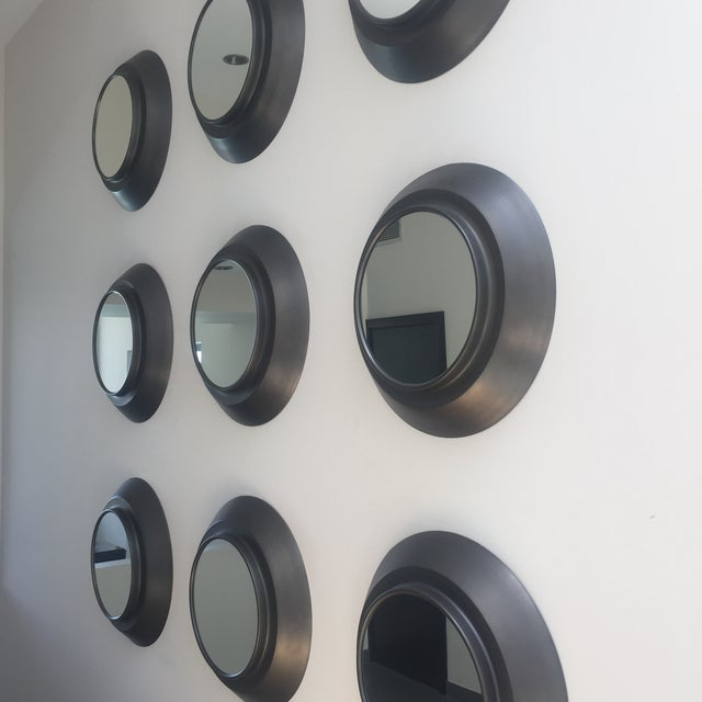 Industrial Circular Metal Wall Mirrors- Set of 9 - Image 5 of 6