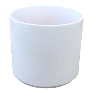 Vintage Mid Century Gainey Ceramics Ac-15 in Gloss White La Verne California Pottery For Sale
