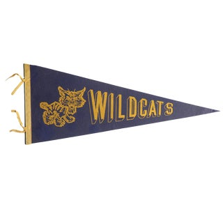 Vintage Wildcats Felt Flag Pennant For Sale