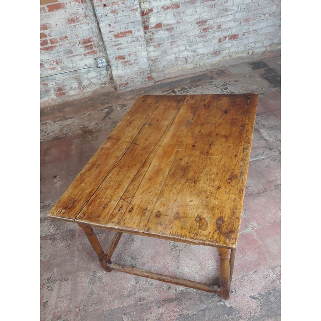 19th Century English Walnut Farm Coffee Table For Sale In Los Angeles - Image 6 of 10