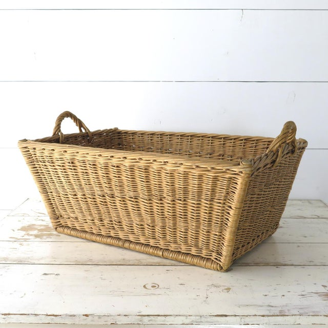 Add French country style to your room with this pretty willow market basket! Imported from Europe, with wood dowels woven...
