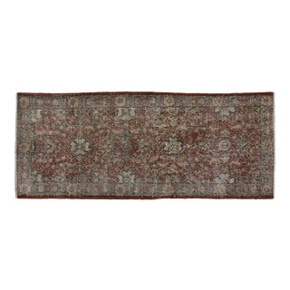 Vintage Turkish Sivas Rug With Rustic Modern Style - 02'07 X 06'02 For Sale