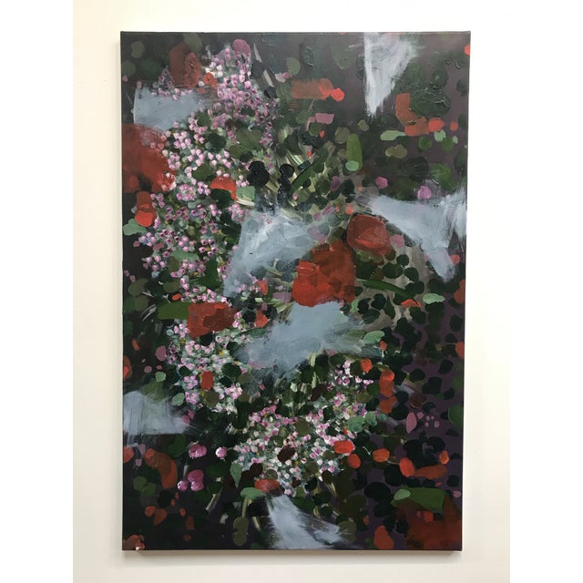 Vintage Abstract Floral Painting For Sale In Boston - Image 6 of 6