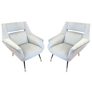Italian Mid-Century Armchairs in the Style of Gio Ponti