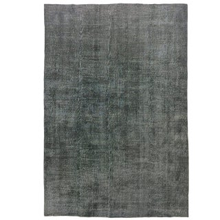 Minimalist Charcoal Grey Hand-Knotted Carpet | 6'10 X 10' For Sale