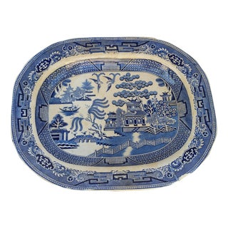 Victorian Ironstone Christmas Platter For Sale