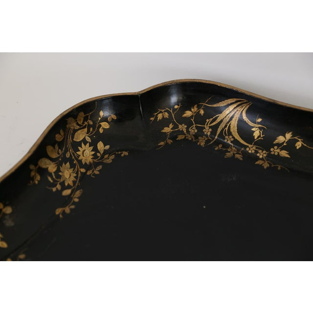 Early 19th Century Antique English Regency Papier Mache Serving Tray For Sale - Image 5 of 11