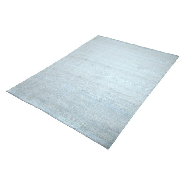 """Gray Contemporary Hand Loomed Area Rug 7' 11"""" x 9' 11"""" For Sale - Image 8 of 9"""