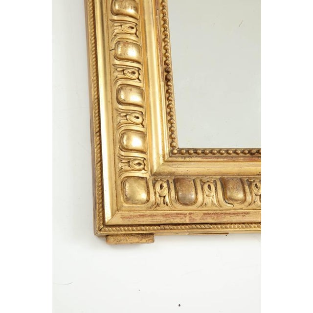 Glass Giltwood Louis Philippe Mirror For Sale - Image 7 of 8