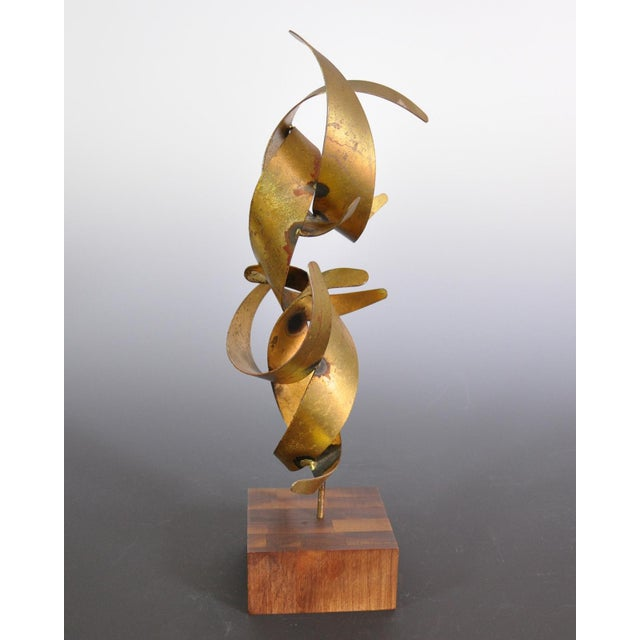 William Bowie Vintage Mid-Century William Bowie Brutalist Gold Leaf Metal Sculpture For Sale - Image 4 of 6