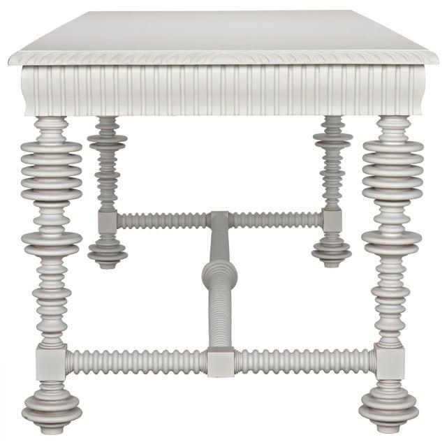 Portuguese Desk, Solid White For Sale - Image 9 of 13