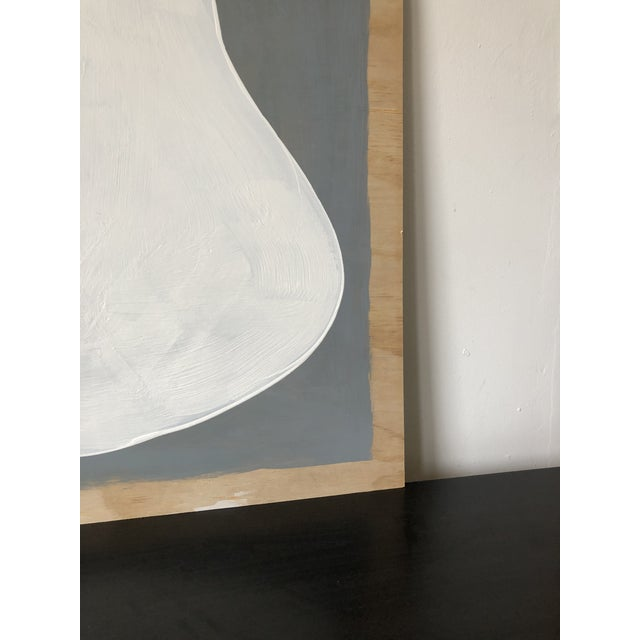 2010s Grey and White Oversized Abstract Acrylic Diptych For Sale - Image 5 of 10