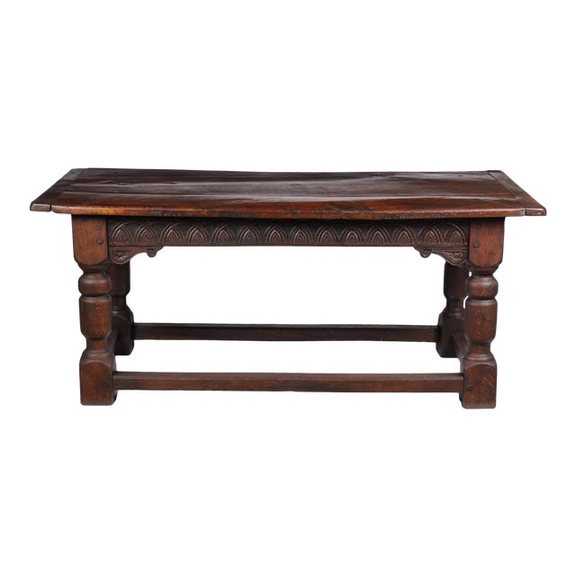 19th Century Antique French Oak Church Refectory Table For Sale