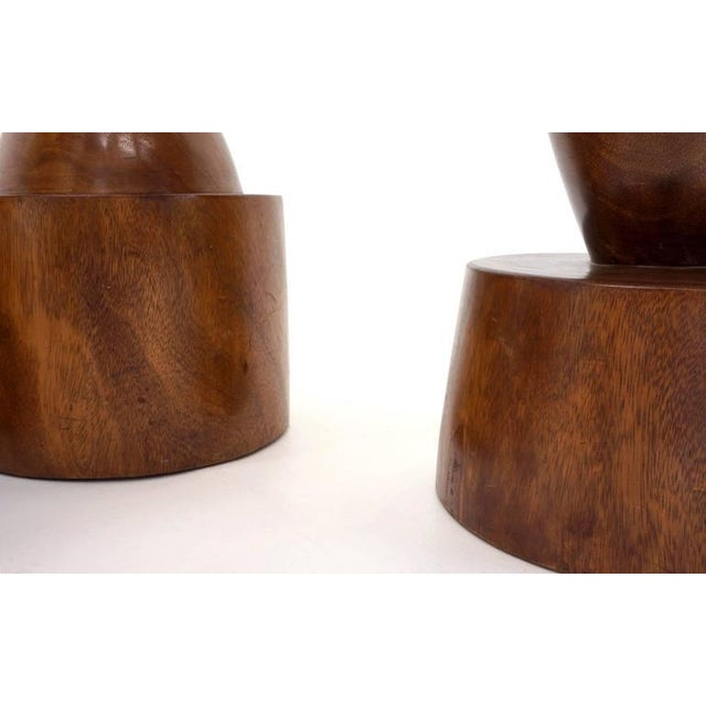 1960s Set of Four 1960s Barstools of Solid Walnut and Exotic Woods For Sale - Image 5 of 10