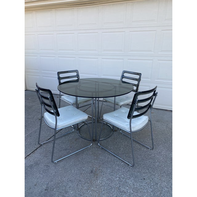 Vintage Chromcraft Chrome & Smoke Glass Dinette Set - 5 Pieces For Sale - Image 13 of 13