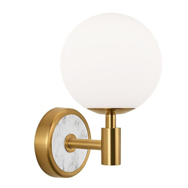 Art Deco Lunar Brass Wall Light For Sale - Image 3 of 3
