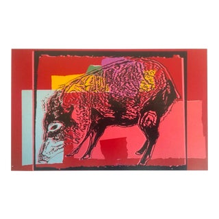 "Andy Warhol Estate Rare Collector's Vanishing Animals Lithograph Print "" Giant Chaco Peccary "" 1986 For Sale"