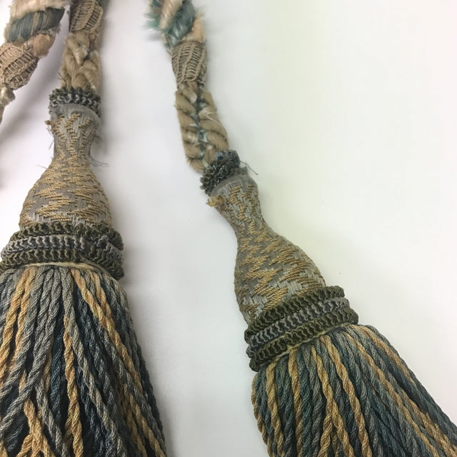 French Set of 19th Century French Tassels With Rope Tie Backs For Sale - Image 3 of 8
