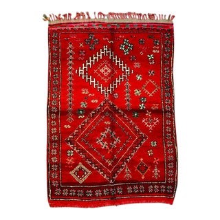 1970s Moroccan Boujad Rug-5′10″ × 8′6″ For Sale