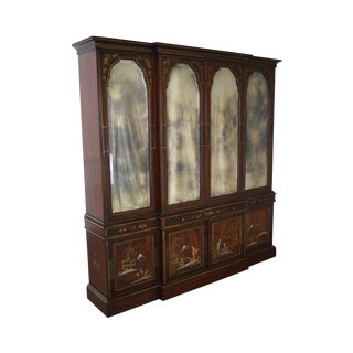 Chinoiserie Japanned Mirrored Door Breakfront