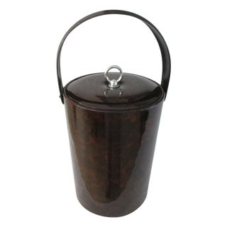 Georges Briard Faux Tortoise Design Ice Bucket For Sale