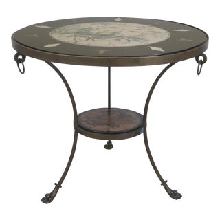 Ralph Lauren Bronze Base Round Neoclassical Table