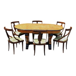 Italian Neoclassical Dining Room - Set of 7 For Sale