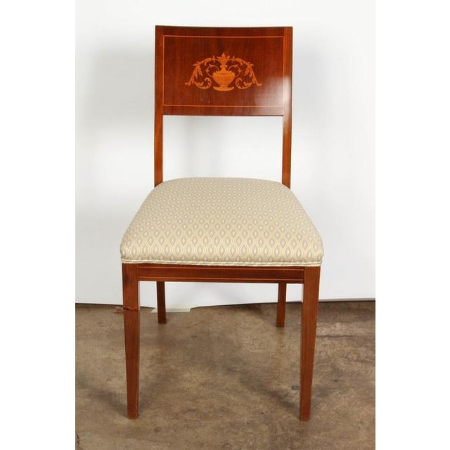 Early 19th Century Pair of 19th Century Danish Inlaid Mahogany Chairs For Sale - Image 5 of 8