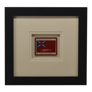 Antique Glass Photograph of Revolutionary War Flag For Sale