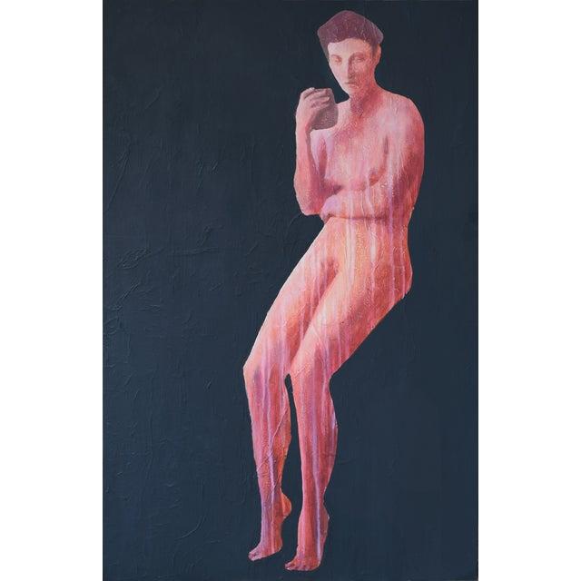"""""""Sedet Nuda (Red)"""" Geoff Greene Painting For Sale"""