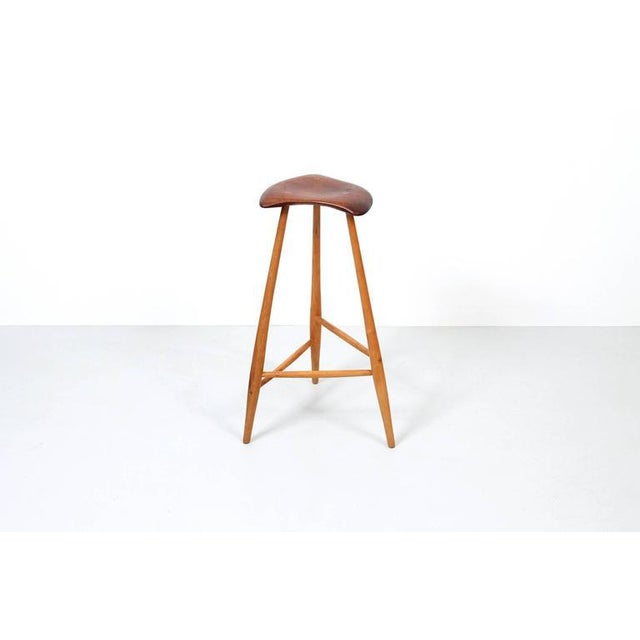 Mid-Century Modern 1980s Barstool by Horace B. Hartshaw For Sale - Image 3 of 12