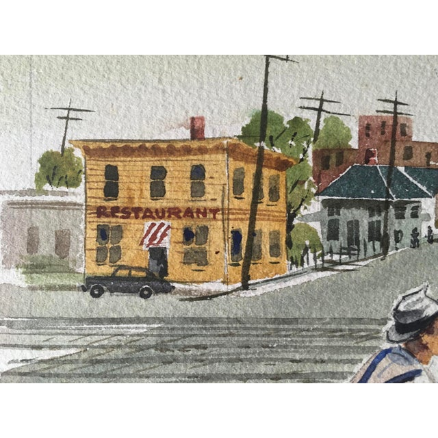 Watercolor Shooting the Breeze Watercolor by Hal Werneke For Sale - Image 7 of 11