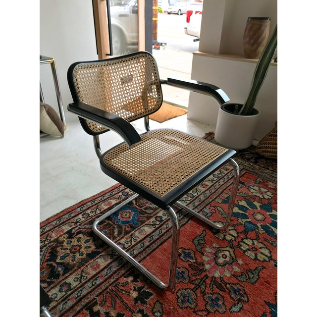 Metal Vintage Mid-Century Modern Marcel Breuer Cesca Style Chairs - Set of 6 For Sale - Image 7 of 13