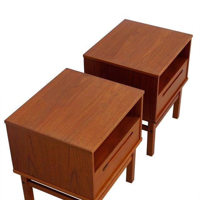 Torring Danish Modern Teak Nightstands/Side Tables - a Pair - Image 3 of 8