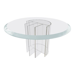 """Lucite Dining Table by Charles Hollis Jones, """"Blade"""" Line For Sale"""