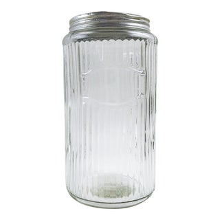 Hoosier Ribbed Glass Canisters For Sale