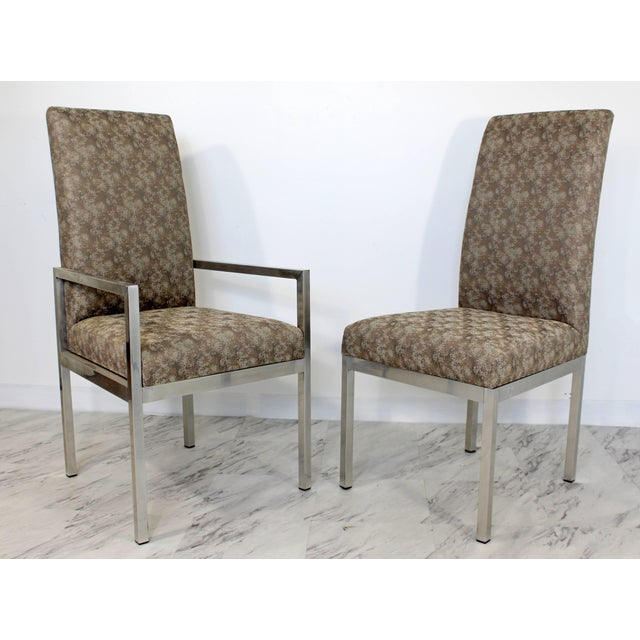 Mid-Century Modern Mid-Century Modern Set of Six Milo Baughman for Dia Chrome Dining Chairs For Sale - Image 3 of 10