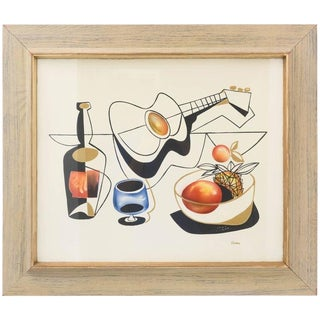 Mid Century Modern Mixed-Media Painting by British, J. Keeman For Sale