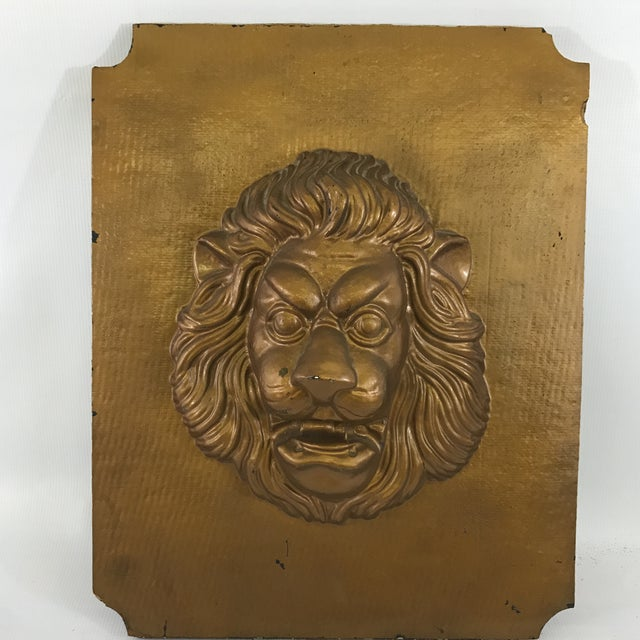 Mid-Century Modern Lion Wall Plaque For Sale In Charlotte - Image 6 of 6