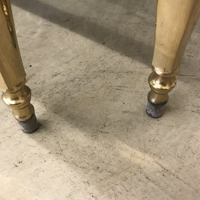 Italian Smoked Glass & Brass End Tables For Sale - Image 9 of 11