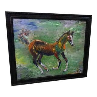 Colt Horse Framed Oil Painting For Sale