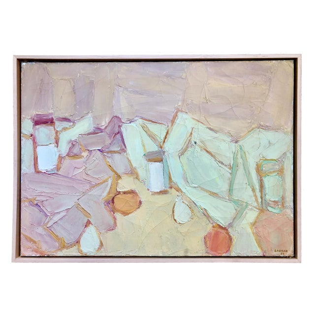 1962 Andre Lauran Still Life Painting For Sale - Image 4 of 4