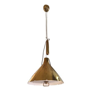 1950s Paavo Tynell Counterweight Pulley Pendant Lamp For Sale