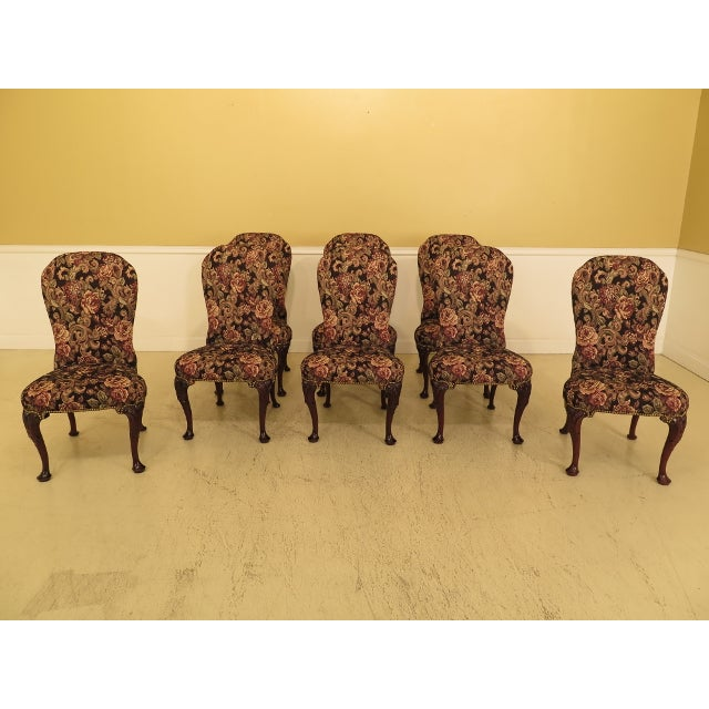 a50be445ff519 Kindel Irish Georgian Balloon Back Dining Chairs - Set of 8 For Sale -  Image 13