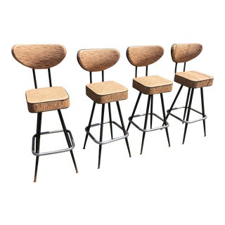Mid-Century Bar Stools- Set of 4 For Sale