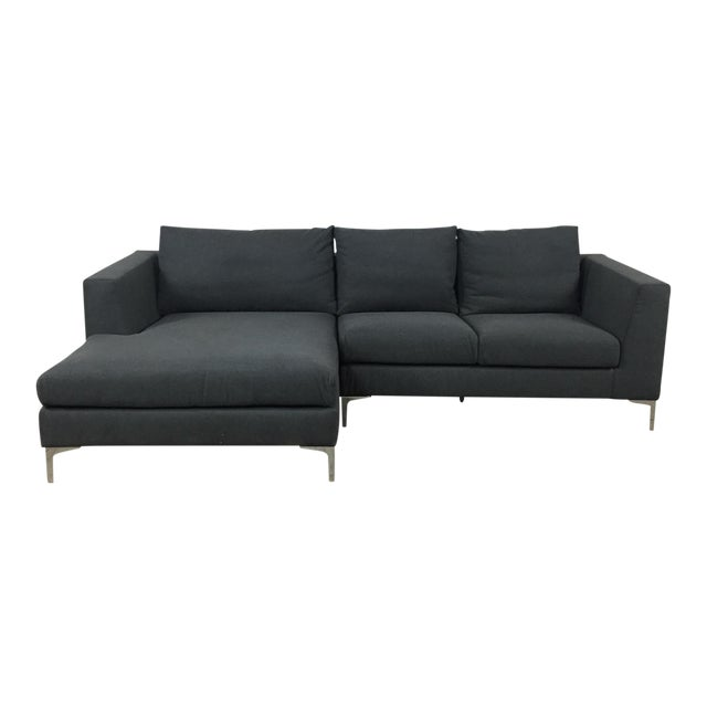 Modern Gray Left Chaise Sectional Sofa - Image 1 of 8