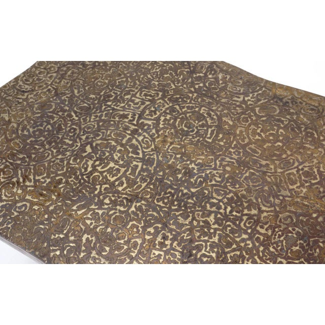 Bronze Coffee Table by Philip and Kelvin LaVerne For Sale - Image 5 of 10